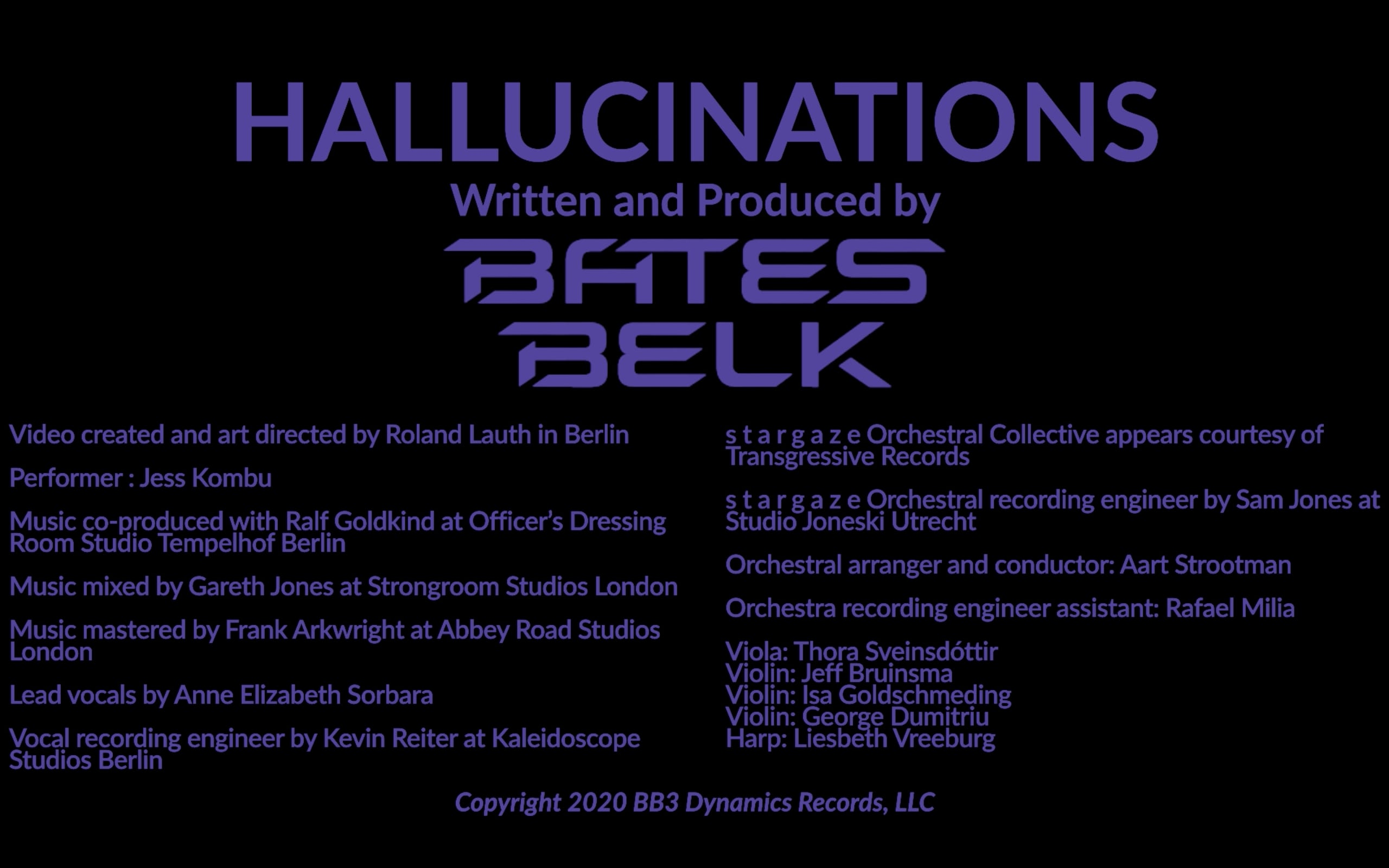 Bates Belk Hallucinations Animations Music Video